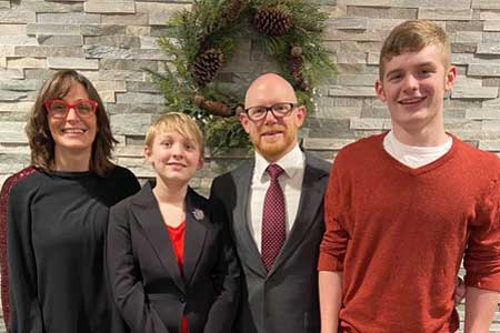 Assistant Pastor Dan Finnell and family